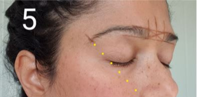 How to shape your eyebrows - mark the end of your brows using a ruler.