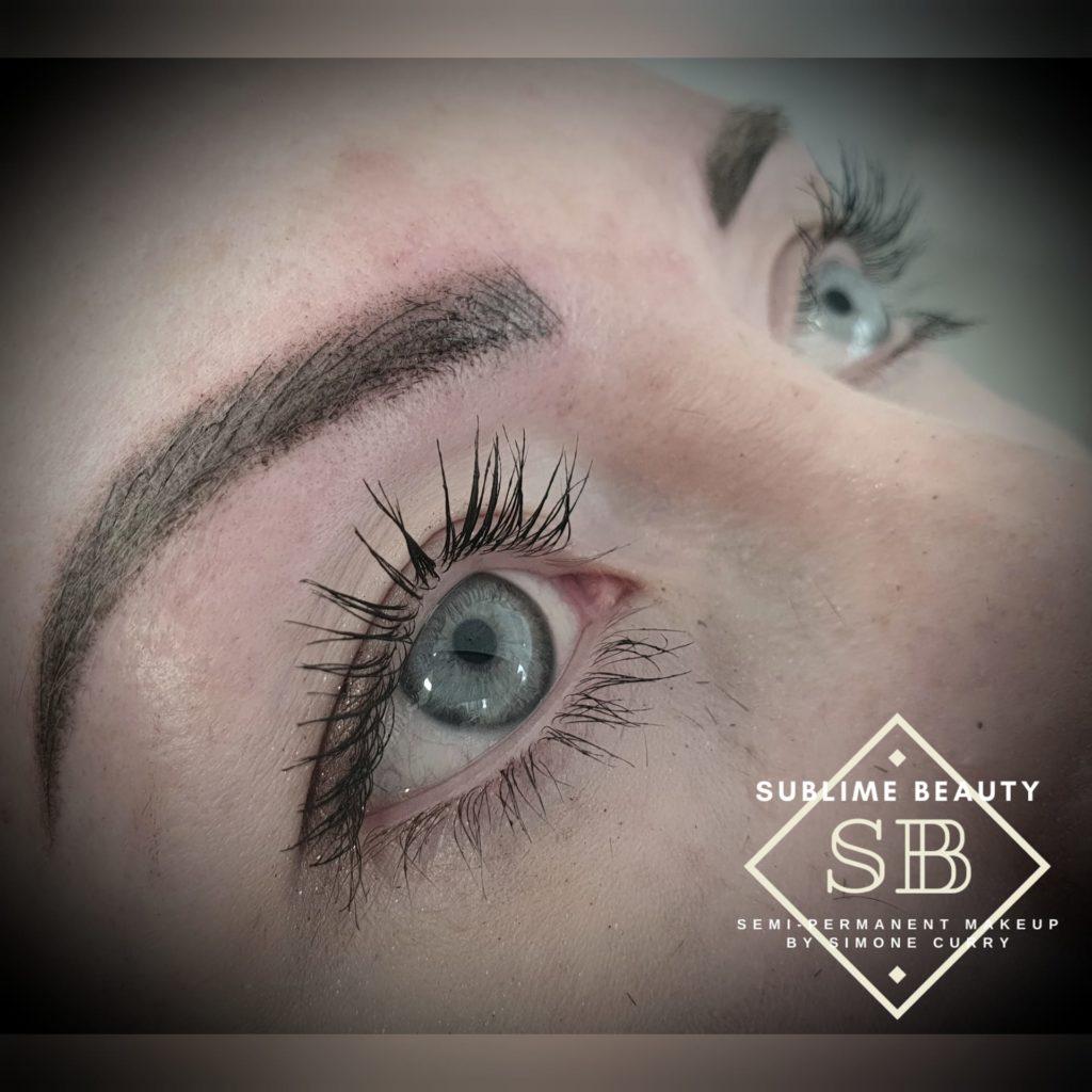 Combination brow SPMU treatment example