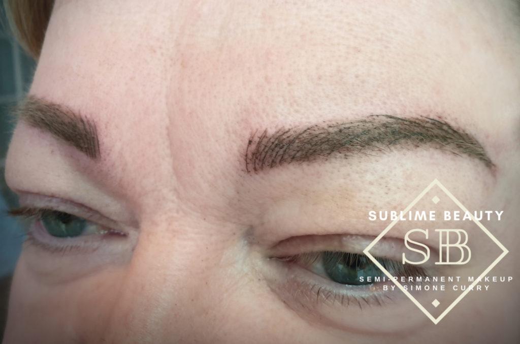 Combination brow SPMU treatment result