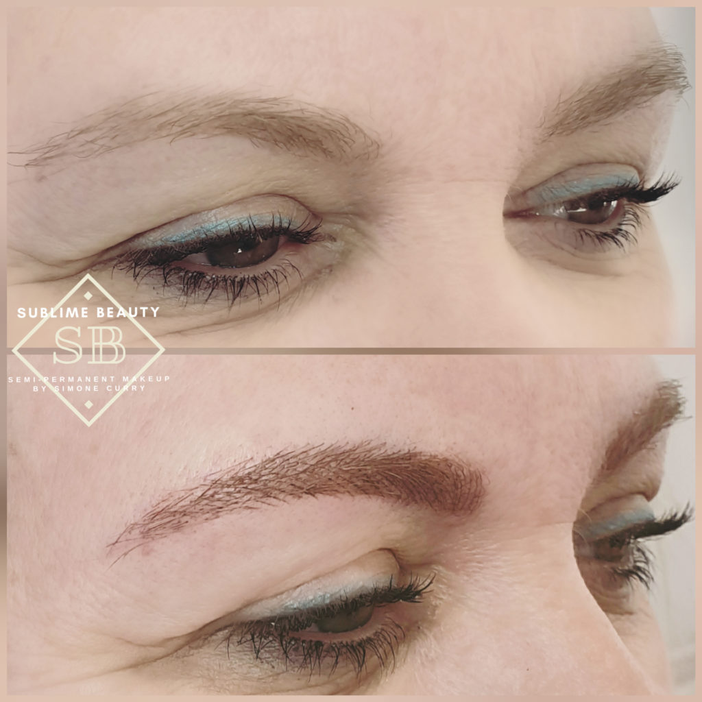 Microblading before and after comparison