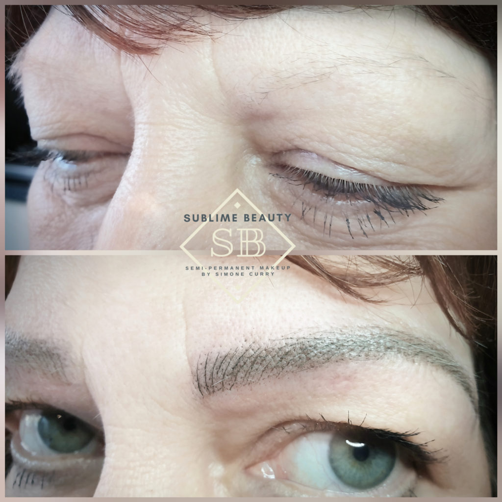 Combination brow SPMU treatment before and after results
