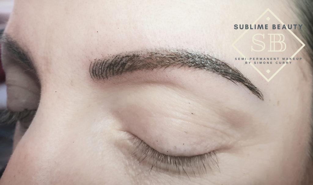 Combination brow SPMU treatment results.