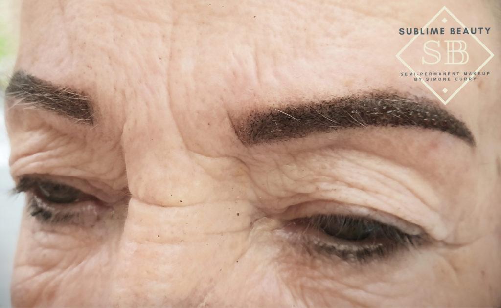 Powder brow SPMU treatment results