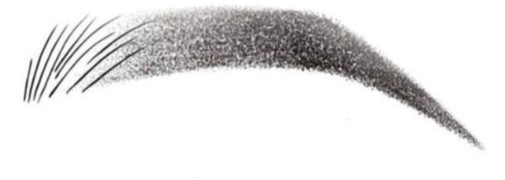 Hand-drawn example of a hybrid brow