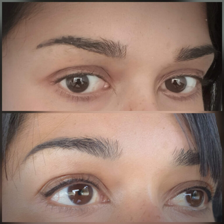 Semi permanent eyeliner treatment before and after