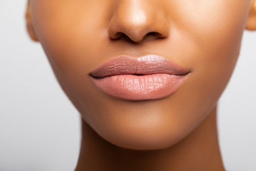 perfect lips after having lip blush treatment.