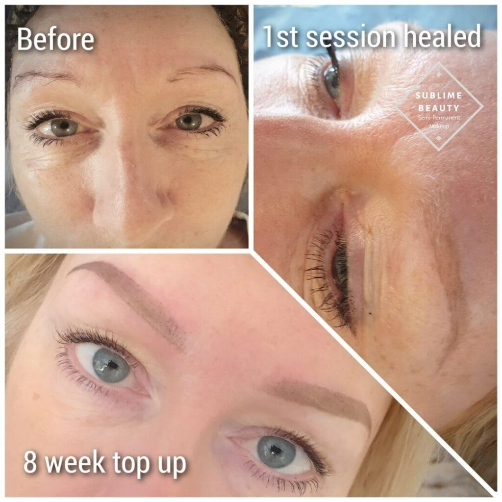 Powder Brow healed results and top up
